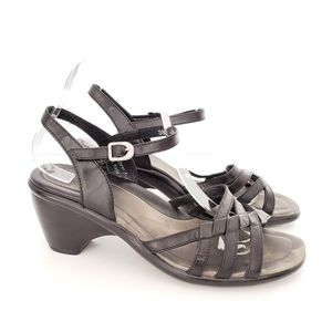 Dansko Black Strappy Heeled Sandals Size EU 38